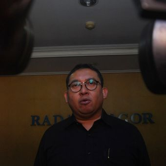 Wakil Ketua Umum DPP Partai Gerindra Fadli Zon saat mengunjungi Kantor Radar Bogor, Jumat (1/6/2018).