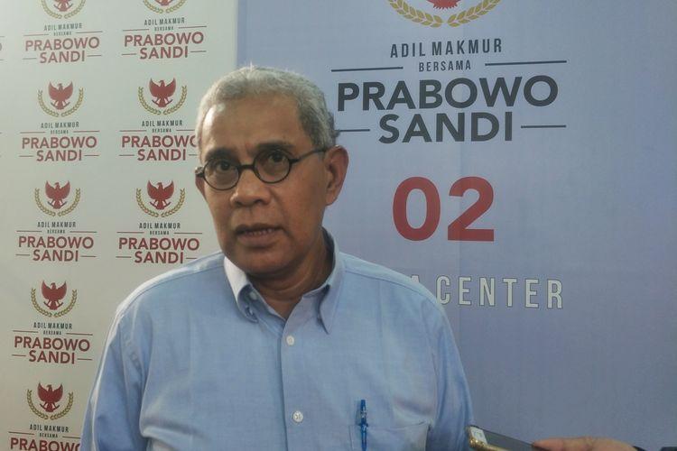 Anggota Tim Hukum pasangan Prabowo Subianto-Sandiaga Uno, Nicholay Aprilindo, saat ditemui di media center pasangan Prabowo-Sandiaga, di Jalan Sriwijaya, Jakarta Selatan, Senin (17/6/2019).