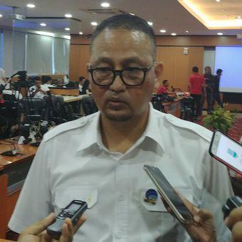 Dirjen Aplikasi dan Informatika Samuel Abrijani Pangerapan dalam jumpa pers di Kantor Kominfo, Jakarta, Senin (6/11/2017).
