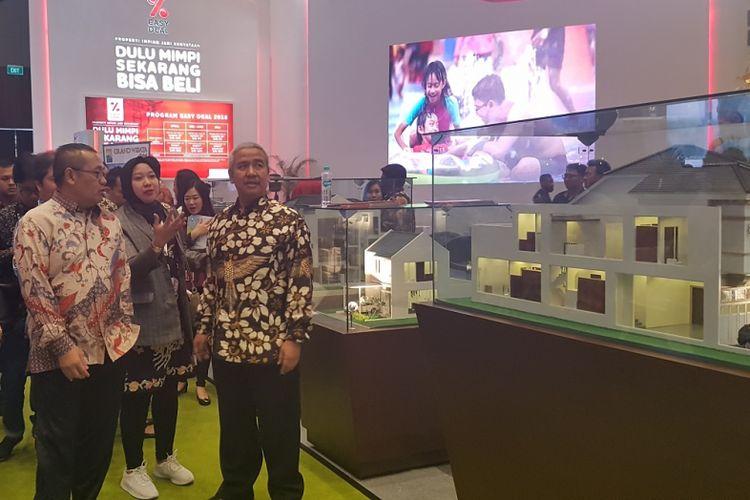 Ditjen Penyediaan Perumahan Kemen PUPR, Khalawi Abdul Hamid, mengajak pengembang untuk mendukung Program Satu Juta Rumah saat pembukaan pameran REI Expo 2018 di Jakarta, Sabtu (21/4/2018)