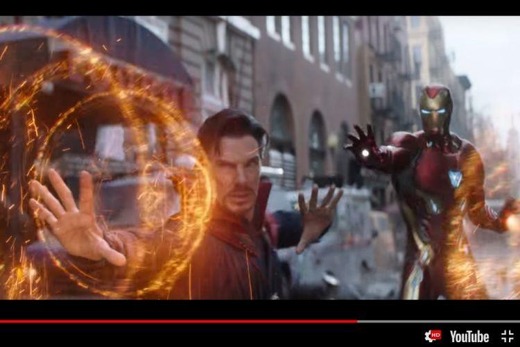 Dr Strange dan Iron Man beraksi dalam Avengers: Infinity War