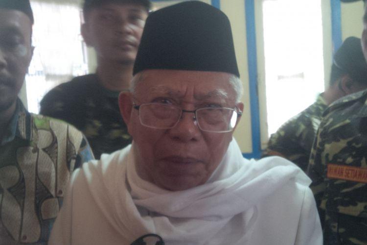 Rais Aam Pengurus Besar Nahdlatul Ulama (PBNU) KH Maruf Amin.
