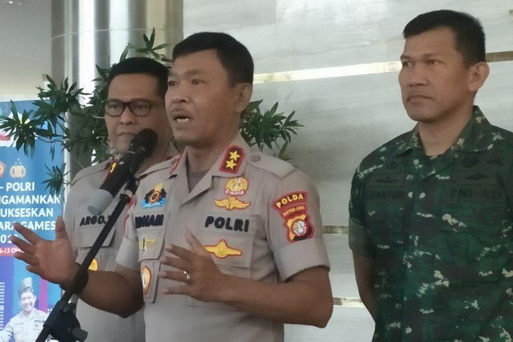Kapolda Metro Jaya Irjend Idham Azis saat memberikan keterangan pers di Mapolda Metro Jaya, Senin (24/9/2018).