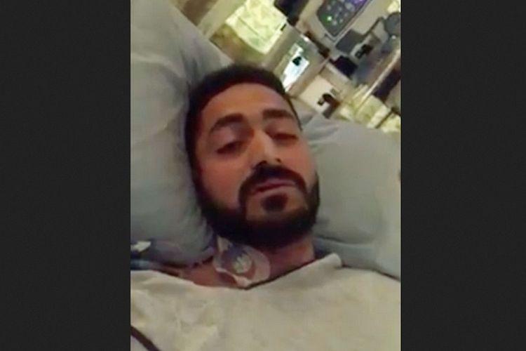 Wasseim Alsati, salah satu korban luka akibat serangan teror di masjid di Selandia Baru, mengunggah video dari ranjang rumah sakit memohon doa untuk dirinya dan putrinya.