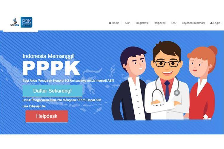 Halaman utama situs SSP3K