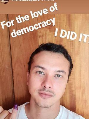 Foto selfie pertama Nicholas Saputra
