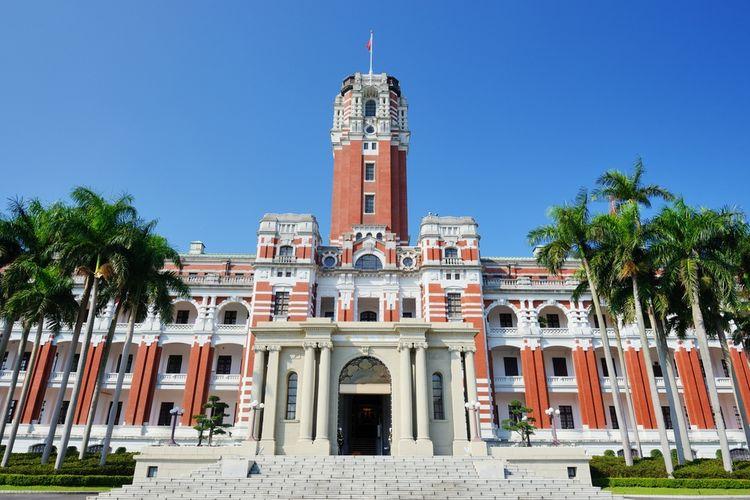Gedung Kepresidenan Taiwan di Taipei.