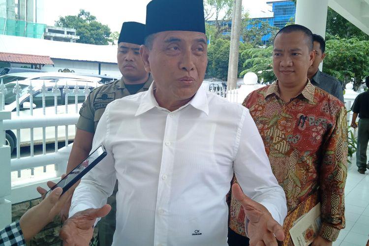 Gubernur Sumut Edy Rahmayadi menyurati Kementerian Pertanian untuk meminta revisi kebutuhan pupuk di Sumut, Rabu (15/5/2019)