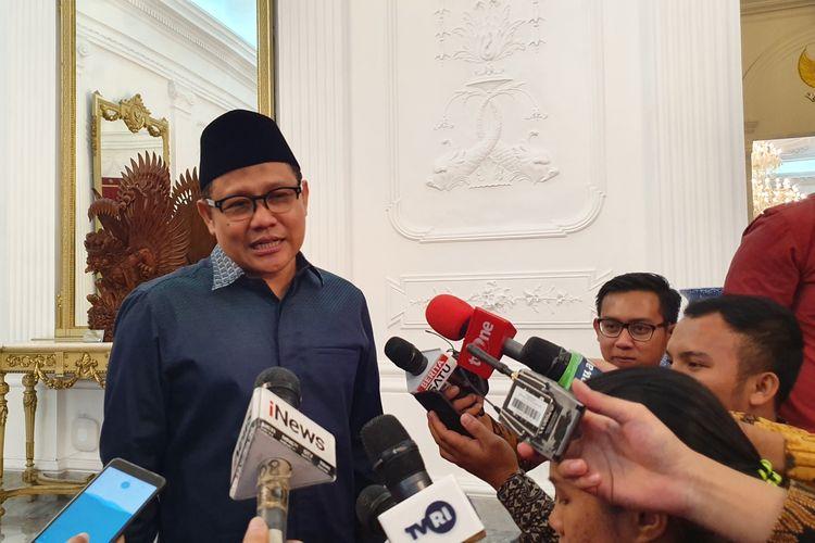 Ketua Umum PKB Muhaimin Iskandar di Istana Kepresidenan, Jakarta, Selasa (21/5/2019).