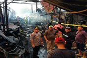 Diduga Korsleting Listrik, 50 Unit Toko di Pasar Besar Ludes Terbakar