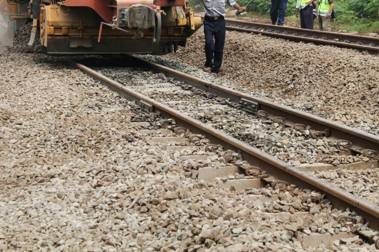 Ilustrasi rel kereta api