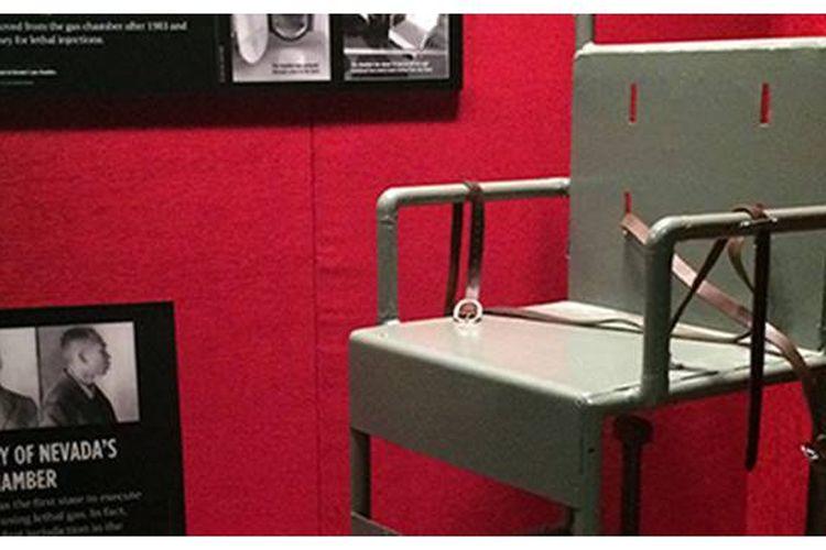 Kursi yang digunakan untuk eksekusi mati gas beracun