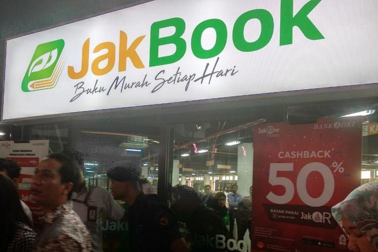 Pasar buku Jakbook di Pasar Kenari, Salemba, Jakarta Pusat, Senin (29/4/2019)