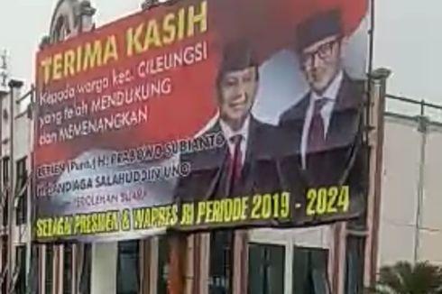 Cerita Warga Cileungsi Bogor Tolak Turunkan Baliho Kemenangan Prabowo-Sandi
