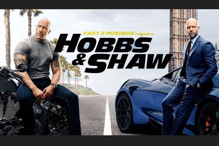 Fast & Furious: Hobbs & Shaw yang dibintangi Dwayne Johnson alias The Rock danJ ason Statham.