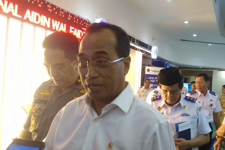 Menteri Perhubungan Budi Karya Sumadi di kantor Kemenhub, Jakarta, Kamis (14/6/2018).