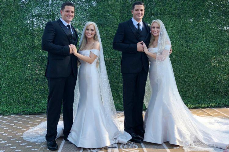 Kembar identik Brittany dan Briana Deane baru-baru ini menikahi kembar identik Josh dan Jeremy Salyers.