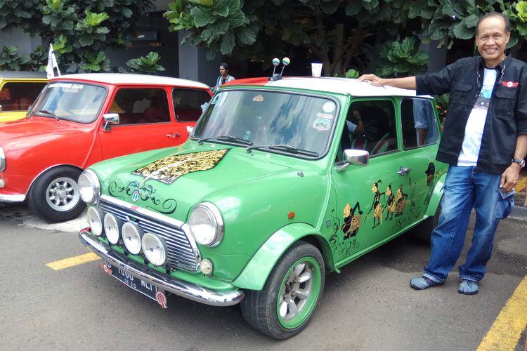 Dedengkot Jakarta Morris Club (JMC), Soenoe Harmanto, mengaplikasikan nilai filosofis pada wayang ke dalam Mini Cooper miliknya.