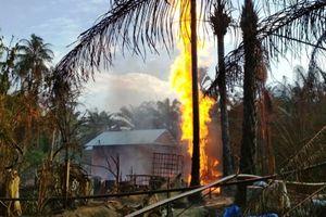 Titik Api Semburan Sumur Minyak di Aceh Timur Sulit Dipadamkan