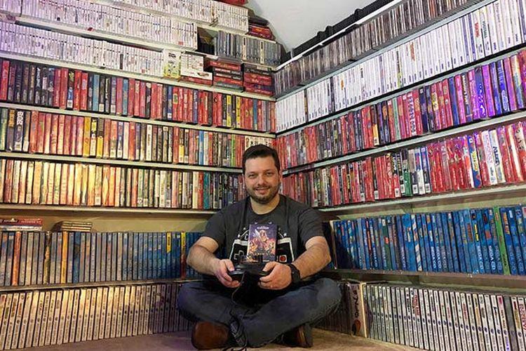 Antonio Monteiro, pemegang rekor pemilik kaset game terbanyak di dunia