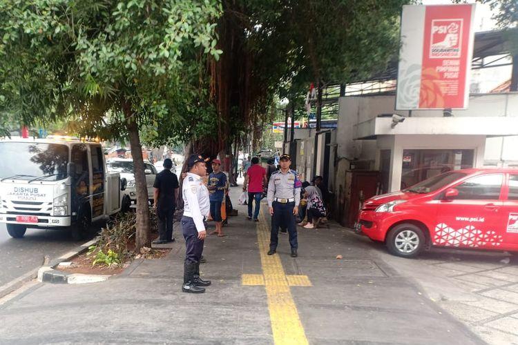 Situasi kantor DPP PSI di Jalan Wahdi Hasyim, Jakarta Pusat, Rabu (14/8/2019).