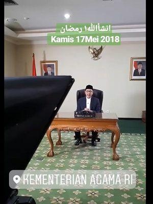 Tangkapan layar ini memperlihatkan sebagian dari video pidato Menteri Agama Lukman Hakim Saifuddin tentang awal Ramadhan yang diunggah ke dunia maya.