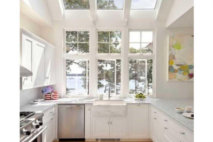 Dapur dengan atap kaca
