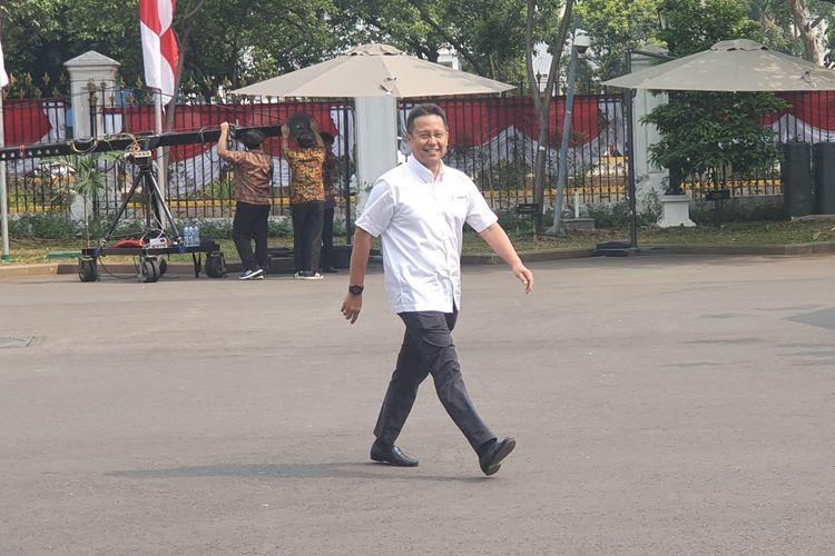 Budi Gunadi Sadikin, saat itu masih menjadi Dirut Inalum, di Istana Kepresidenan, Jumat (25/10/2019) pagi.