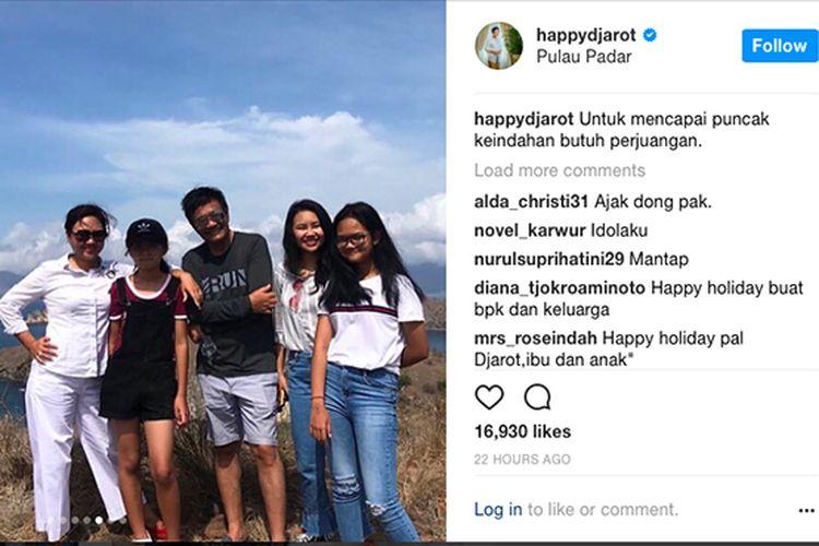 Postingan instagram Happy Djarot Syaiful Hidayat.