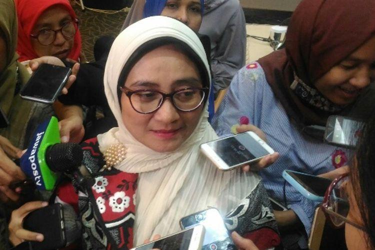 Direktur Eksekutif Departemen Statistik Bank Indonesia (BI) Yati Kurniati, di Gedung BI, Jakarta, Kamis (12/7/2018).