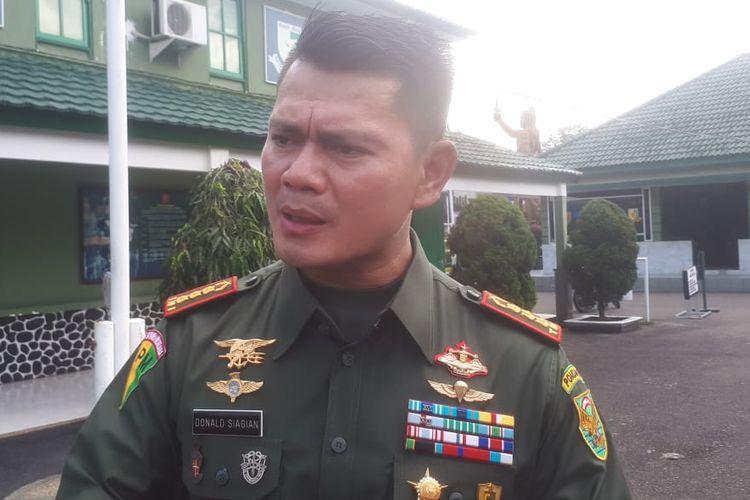 Komandan Polisi Militer Kodam (Danpomdam) II Sriwijaya Kolonel CPM Donald Siagian.