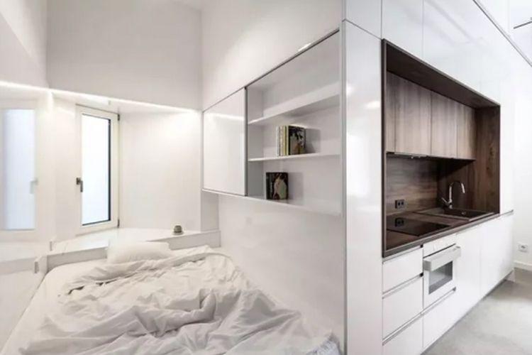 Desain apartemen mungil rancangan tim arsitek Batlab.