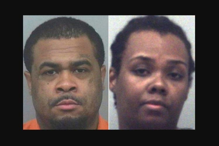 Pasangan Rimmon Lewis (kiri) dan Angela Strothers yang didakwa melakukan kekerasan kepada anak mereka.