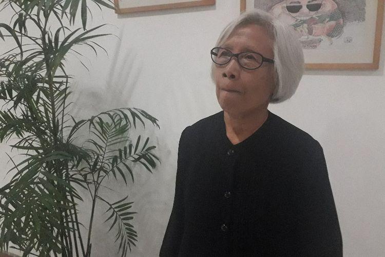 Ketua Presidium JSKK Maria Catharina Sumarsih saat ditemui di Kantor Komnas HAM, Rabu (14/8/2019).
