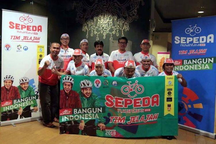 Deputi III Pembudayaan Olahraga Dr. Raden Isnanta M,Pd, bertempat di kawasan Tangerang, Banten, pada Rabu (27/6/2018) malam, secara resmi melepas tim Jelajah Sepeda Nusantara 2018 yang merupakan bagian dari salahsatu program unggulan Kemenpora dibawah payung Ayo Olahraga yakni Sepeda Nusantara 2018, untuk memulai penjelajahan mengayuh sepeda dengan jarak tempuh 6.500 Km.