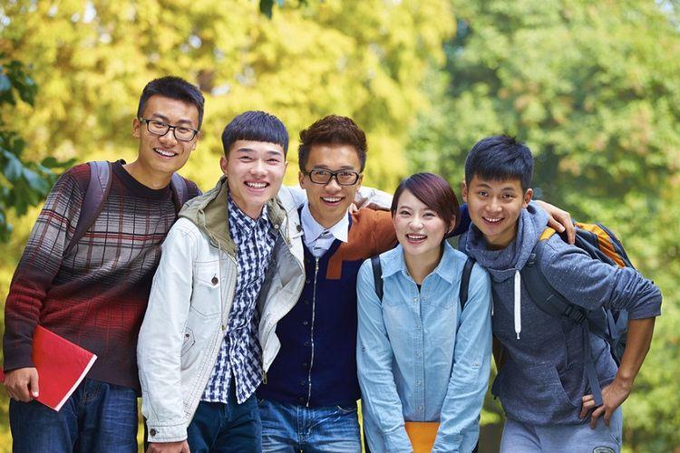 Ilustrasi pelajar asal China.