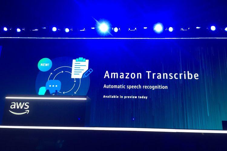Pengenalan Amazon Transcribe di AWS re: Invention 2017 di Las Vegas, Amerika Serikat, Rabu (29/11/2017) waktu setempat.