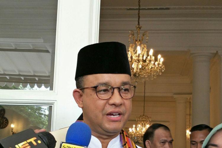 Gubernur DKI Jakarta Anies Baswedan di Balai Kota DKI Jakarta, Jalan Medan Merdeka Selatan, Kamis (9/11/2017).