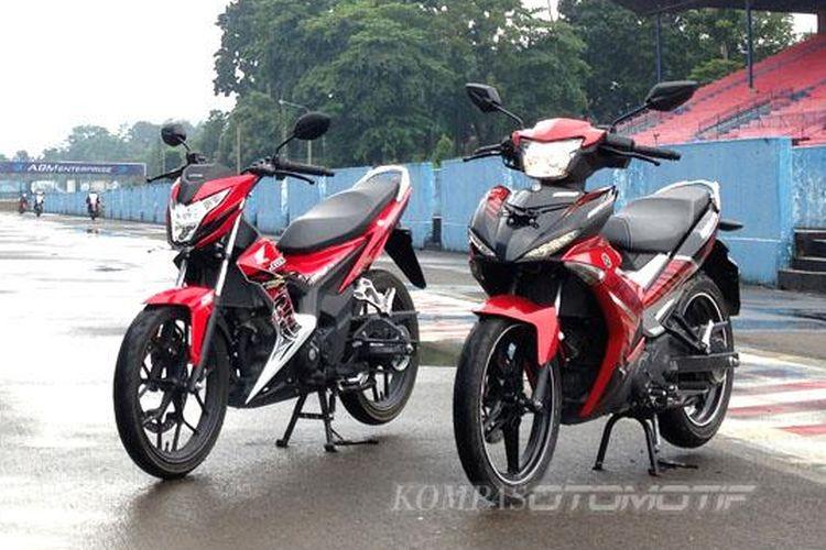 Persaingan tiga bebek sport 150 cc.