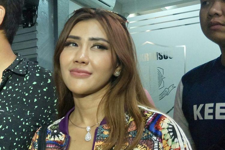 Rey Utami saat ditemui di Dit Reskrimsus Polda Metro Jaya, Jakarta Pusat, Selasa (2/7/2019).