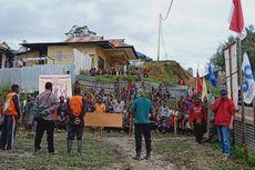 Bentrok Massa saat Pleno KPU Intan Jaya Papua, Polisi Terkena Lemparan Batu