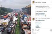 Imbas Penyempitan Jalan KM 14, Tol Jakarta-Cikampek Padat Merayap
