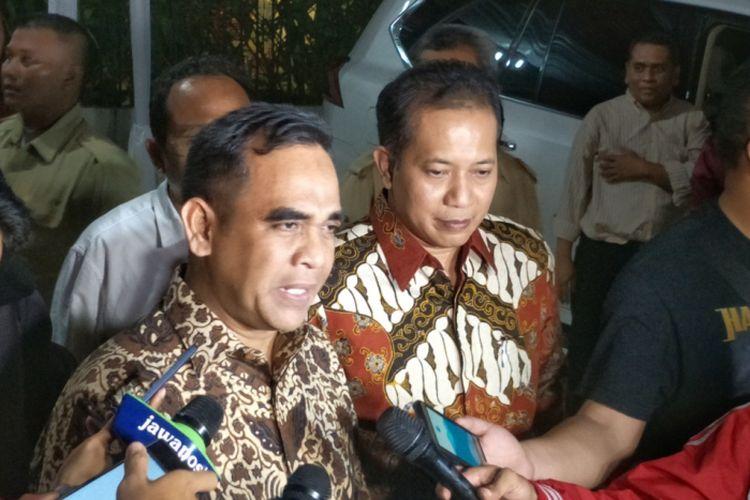 Sekjen Partai Gerindra Ahmad Muzani (kiri)