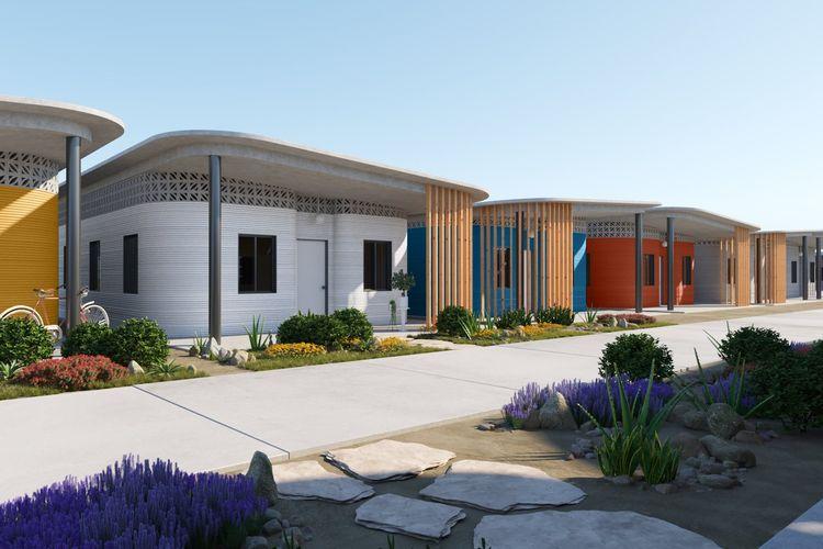Rencana pembangunan perumahan dengan teknologi pencetakan 3D.
