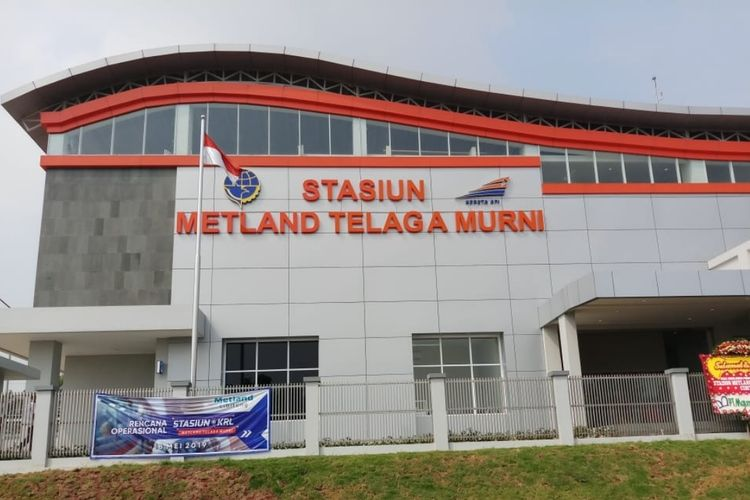 Stasiun Metland Telaga Murni, Cibitung, Kabupaten Bekasi, Kamis (20/6/2019).