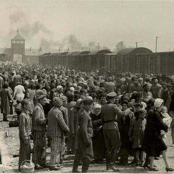 Ribuan bangsa Yahudi tiba di kamp konsentrasi Auschwitz-Birkenau di masa Perang Dunia II. Sejarah mencatat 6 juta orang Yahudi tewas akibat praktik holocaust yang diterapkan Nazi Jerman.