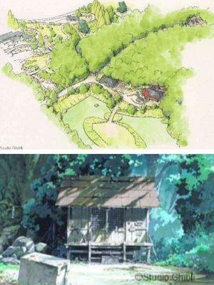 Konsep Taman Ghibli untuk area My Neighbor Totoro.