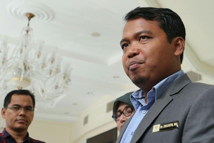 Ketua Komisi Perlindungan Anak Indonesia (KPAI) Susanto ketika ditemui di kantor Wakil Presiden, Jakarta, Senin (6/11/2017).