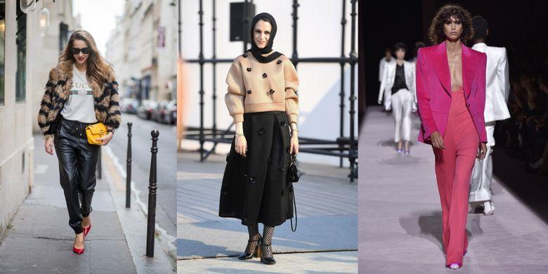 Intip gaya street style para fashion blogger memadu padankan warna.