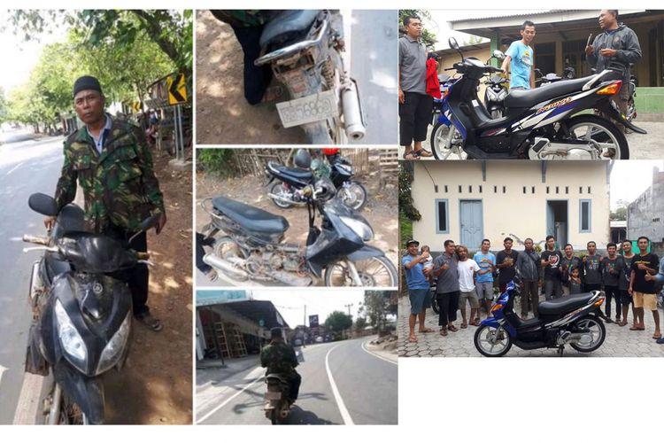Supriyadi mendapatkan bantuan restorasi motor Nouvo miliknya dari anggota komunitas